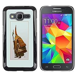LECELL--Funda protectora / Cubierta / Piel For Samsung Galaxy Core Prime -- Asistente Viejo --