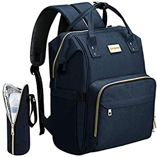 COSYLAND Diaper Bag Backpack Nappy Maternity Backpack for Mom with USB Charge (Navy Blue)