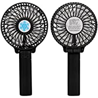 Rumas® Portable Handheld Mini Air Conditioner Cooler Fan USB Battery (black)