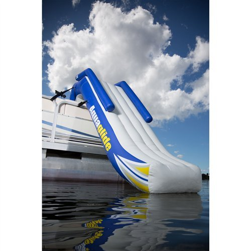 Aquaglide Inflatable Slide - Aquaglide 58-5213006 Freefall 5' Inflatable Pontoon Slide w/ Warranty & Pump