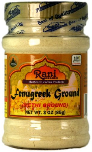 Rani Fenugreek (Methi) Seeds Ground Powder 3oz (85g) Trigonella foenum graecum | Gluten Free | Non-GMO (used in cooking & Ayurvedic spice)
