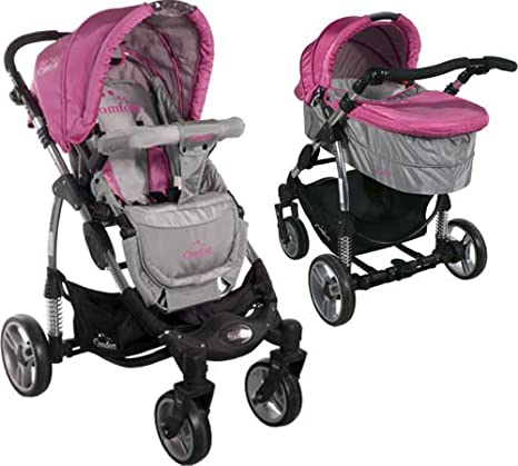 Carrito convertible con capazo ARTI Comfort B503 2w1 Pink/Gray: Amazon.es: Bebé