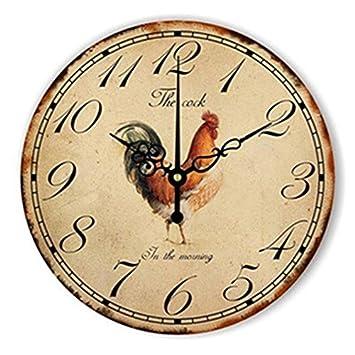 4ba2b3c0bbf7 WXIN Lion Tiger Big Numeral Reloj De Pared Grande Reloj Habitación Infantil  Decoración del Hogar Reloj De Pared Diseño Moderno para Niños - Amarillo
