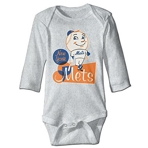 Babe Ruth Baby Costume (NINJOE Newborn Babys Mascot Mr. & Mrs. Met Long Sleeve Bodysuit Outfits Ash)