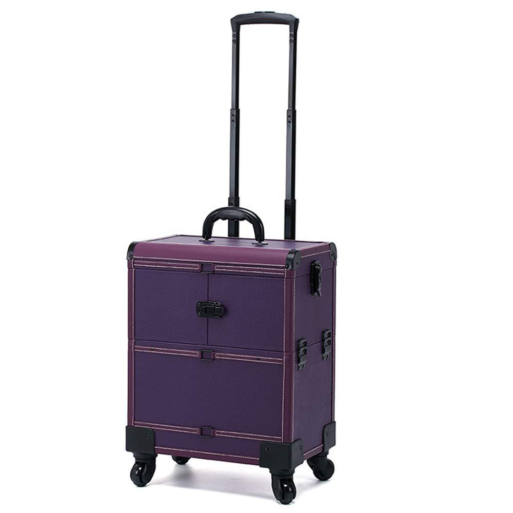 人気 化粧オーガナイザーバッグ B07Q5LWVDT : 多機能360度車輪3イン1プロフェッショナルアルミアーティストローリングトロリーメイクトレインケース化粧品オーガナイザー収納ボックス 紫の 化粧品ケース (色 : ブラック) B07Q5LWVDT 紫の 紫の, 軸受ショップ:58ec83c9 --- svecha37.ru