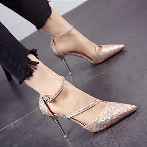 FLYRCX Personalità elegante tacco alto scarpe scarpe scarpe tacco sottile shallowly singolo sexy party scarpe scarpe,34,un 3989c0