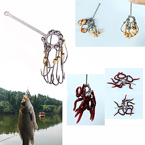 New 4pcs Carbon Steel Explosion Carp Fishing Hook Jig Barbed Plate Hooks Tackle Capture Off Sharp Disk Fishhook Set