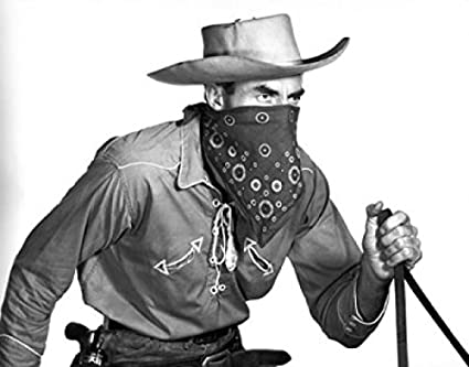 Cowboy Covering His Face With A Bandana Poster Print 18 X 24