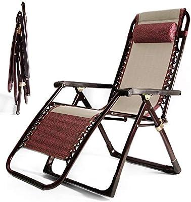 GPFDM Plegable reclinable Jardín Hamaca Tumbona, la Gravedad Cero al Aire Libre sillón con la Almohadilla por Playa Campamento Silla de jardín portátil - 200 kg Soporte: Amazon.es: Hogar