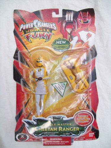 Power Rangers Jungle Fury Yellow Cheetah Master Ranger Rare HTF Action Figure MOC NEW