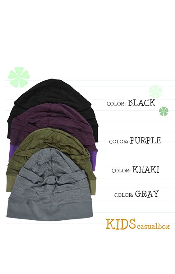 6dc6a5f6af1 Amazon.com  Casualbox Charm Boys Girls Kids Beanie Hat Summer Cooling Light  Weight Purple  Clothing