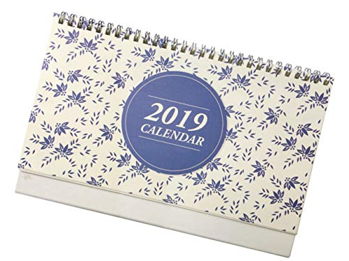 Desk Calendar 2019, October 2018 - December 2019,Twin-Wire Binding,Monthly Planners for Office,School,Family, 10'' x 7''(American Holiday) by GUANGYAO