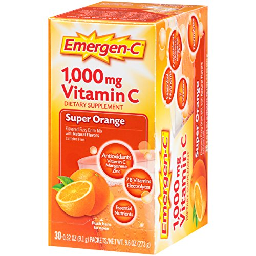 076314306466 - Emergen-C Dietary Supplement Drink Mix with 1000 mg Vitamin C, 0.32 Ounce Packets, Caffeine Free (Super Orange Flavor, 30 Count) carousel main 6