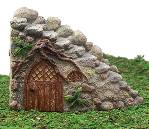 Ebros Gift Enchanted Fairy Garden Miniature Curved Stone Steps Cottage Nook Figurine 4.75