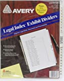 Avery : Avery-Style Legal Side Tab Divider, Title: 1-25, Letter, White, One Set -:- Sold as 2 Packs of - 26 - / - Total of 52 Each