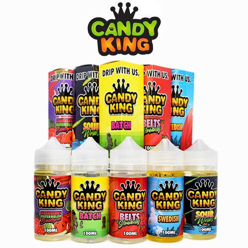 Candy King Liquids by Dripmore - Juice 100ML - One Bottle - 0mg Only! (Belts Strawberry)