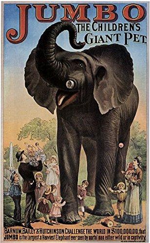 FDW Jumbo The Giant Elephant Circus Poster (18 x 24)