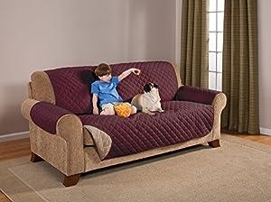 Awesome Pegasus Home Reversible Furniture Protector, Sofa, Wine/Mocha