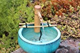 Bamboo Accents 7 Inch Adjustable Branch Arm Natural Bamboo Fountain and Pump Kit for Use with Any Container. Split Resistant, Handmade, Indoor Outdoor