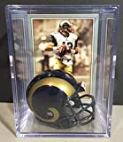 St. Louis Rams NFL Helmet Shadowbox w/ Kurt Warner card