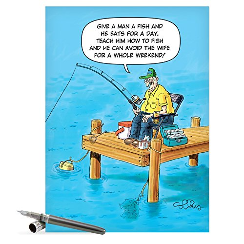 J0303 Jumbo Funny Father's Day Card: Avoid the Wife With Envelope (Extra Large Version: 8.5'' x 11'')