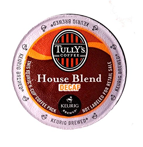 Tully's Coffee Decaffeinated House Blend, K-Cup Portion Pack for Keurig K-Cup Brewers 24-Count (Pack of 2)