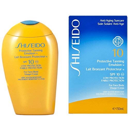 Shiseido Protective Tanning Emulsion SPF 10 for Unisex (Face and Body), 150 ml by Shiseido ()