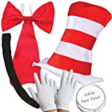 Adults Cat in the Hat Kit World Book Day Week Crazy Cat Fancy Dress costume