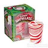 Christmas Peppermint Candy Cane Shot Glass x1