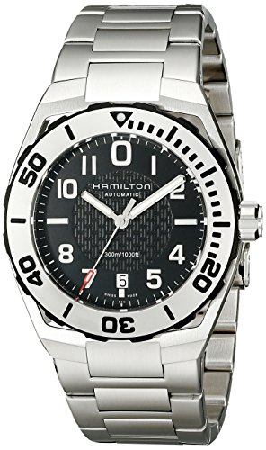 Hamilton Men's 汉密尔顿 Khaki Navy Sub Analog Display Automatic Self Wind Silver Watch