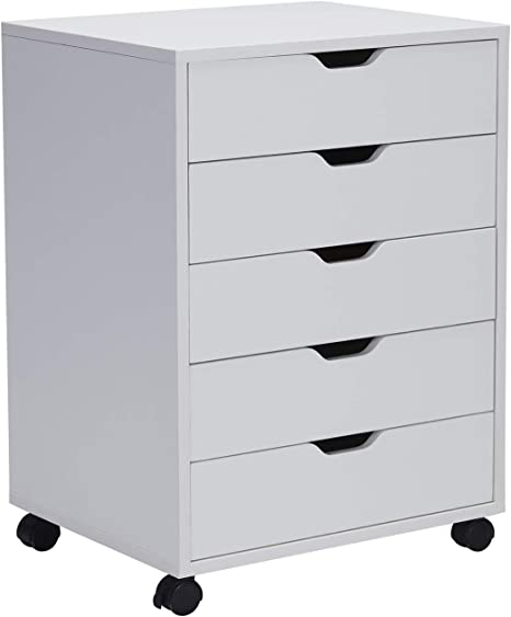 30.239.532.5cm Home Office Furniture File Cabinets Card 5 Drawer Plastic Office Storage Storage Cabinet Gray