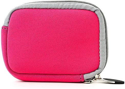 eBigValue Pink Grey Trim Protective Soft Neoprene Cover Carrying Case Sleeve for Samsung SL600 SL605 ST30 ST65 ST80 Digital Camera and Pink 6 Inch Mini Tripod and Screen Protector