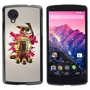 YOYOSHOP [Gold Grenade] LG Google Nexus 5 Case by icecream design