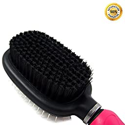 Shed Ninja Dog and Cat Brush – Grooming Tool for Short, Medium and Long Hair – Small and Large Animals – Skin and Coat Safe Bristles with Flexible Head – Deshedding Support