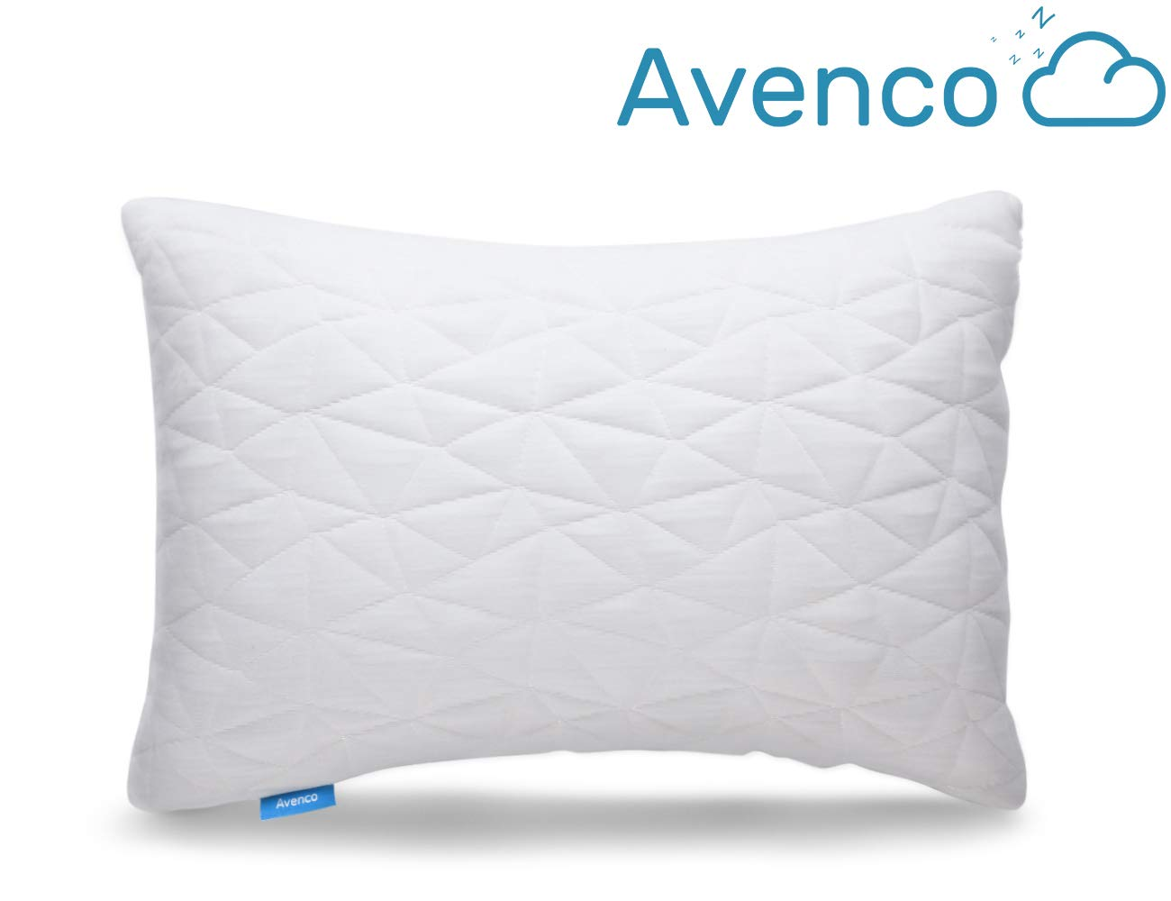 Avenco Bed Pillows for Sleeping, Adjustable Shredded Memory Foam Pillow with Removable Breathable Cover, Good for Back, Side Sleepers, CertiPUR-US Foam, Standard Size 20