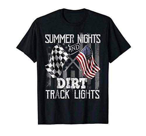 Summer Nights and Dirt Track Lights Moto racing T-Shirt
