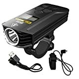Nitecore BR35 1800 Lumen Dual Beam OLED Display Rechargeable Bicycle Headlight with Remote Control, Quick-Release Mount and LumenTac Charging Cable For Sale
