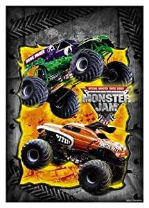 Amazon Com Monster Jam Trucks Party Loot Bags 8 Pack