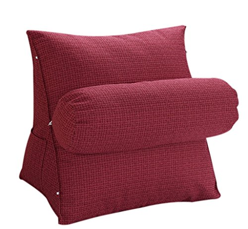 Halovie Adjustable Back Wedge Cushion Pillow 47*45*23 Sofa Bed Office Chair Rest Cushion Neck Support Pillow Pearl Wool