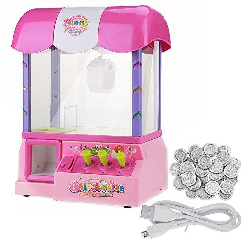 人形マシン 人形つかむ 電子人形ゲームおもちゃ ミニおもちゃキャッチャーマシン 子供 贈り物 プレゼント USBケーブル付き