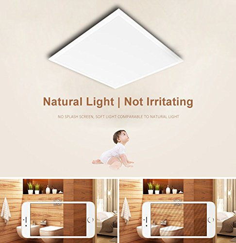 LED 2 x 2 Ft Recessed LED Panel Light Ceiling White Frame 40W 4000K Dimmable - 4Pack by New light (Image #3)