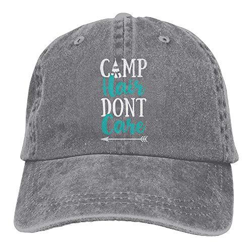 Buyiyang 01 Men Women Camp Hair Don t Care Cotton Denim Baseball Hat Adjustable Street Rapper Hat]()