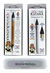 Crystal Katana Rhinestone Applicator Ultimate Kit: Includes Crystal Katana, Replacement Tip, and Storage Case