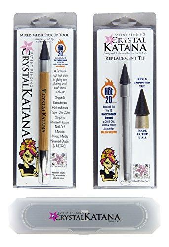 [해외]크리스탈 카타나 모조 다이아몬드 애플리케이터 얼티 메이트 키트 : 크리스탈 카타나, 교체 팁 및 보관 케이스 포함/Crystal Katana Rhinestone Applicator Ultimate Kit: Includ