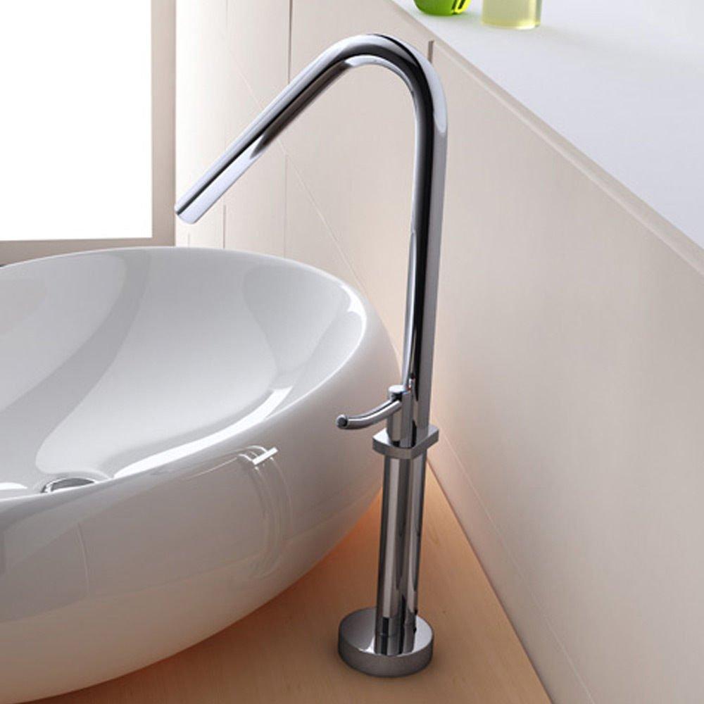 robinet de salle de bains mitigeur mlangeur pour lavabos vasques wa59 amazonfr bricolage - Mitigeur Haut Vasque