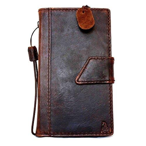 Genuine vintage Leather Case for Motorola Nexus 6 Luxury Book Wallet Handmade magnet cover brown Business Luxury New daviscase (Nexus 6 Love Case)