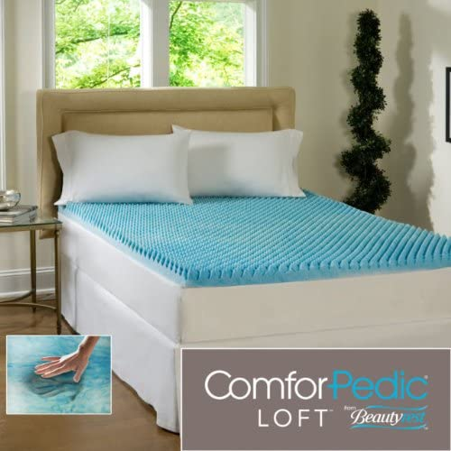 2-inch Sculpted Gel Memory Foam Mattress Topper King