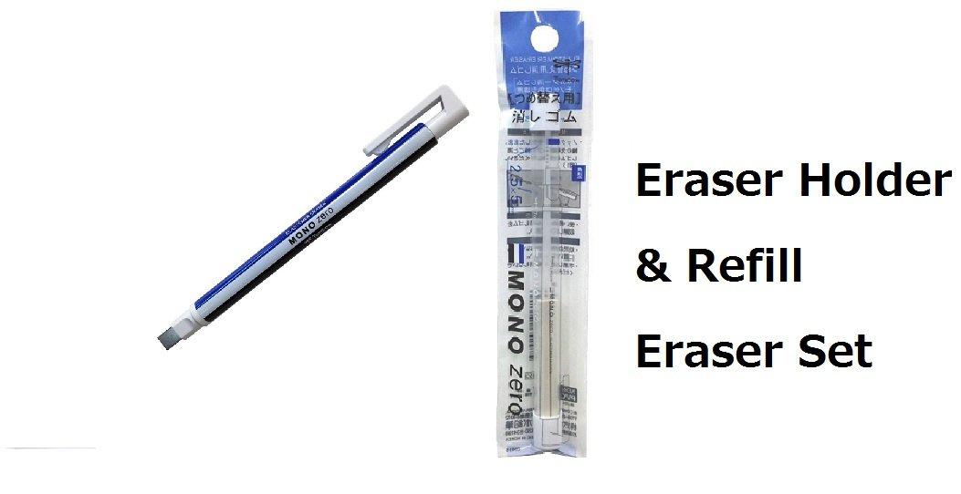 Tombow MONO Zero Eraser, Square Tip 2.3mm, Retractable & 2..