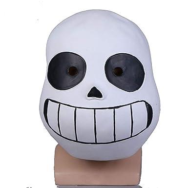 Molagogo Deluxe Latex Game Undertale Sans Full Head Mask Cosplay Costume  Helmet Party Fancy Ball Halloween Christmas Props