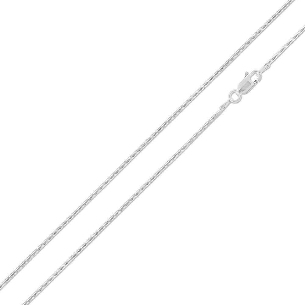 High Polished Sterling Silver Thin Round Snake 025 Chain 1.2mm